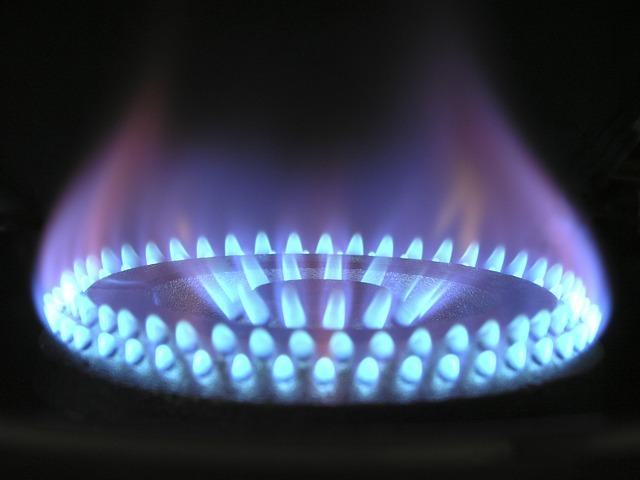 Flamme bleue gazinière